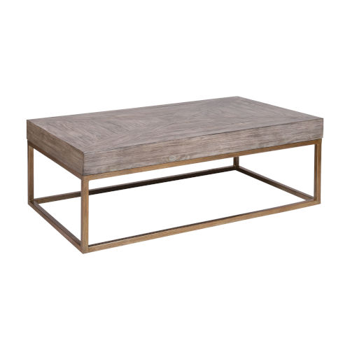 Jordrock Gold with Natural Wood Coffee Table