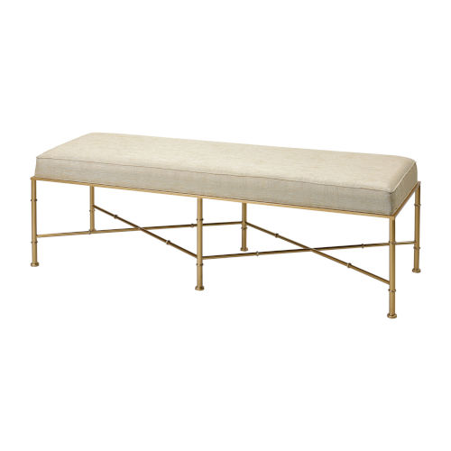 Gold Cane Cream with Gold 54-Inch Bench