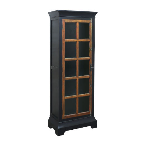 Modern America Grain De Bois Noir with Woodlwith Stain Bookcase Shelf