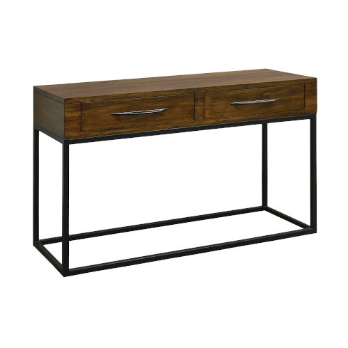 Stanley Woodlwith Stain with Antique Brass Console Table
