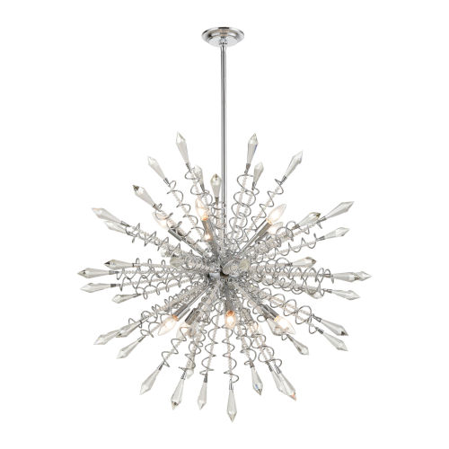 Starbound Clear with Chrome 10-Light Chandelier