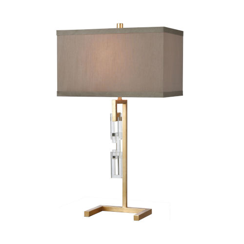 Auberge Gold Leaf with Clear Crystal One-Light Table Lamp
