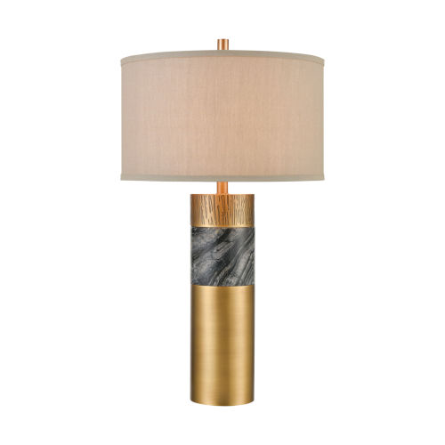 Reinhold Aged Brass with Black Marble One-Light Table Lamp