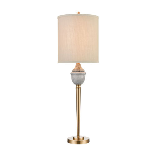 Henley Grey Marble with Cafe Bronze One-Light Table Lamp