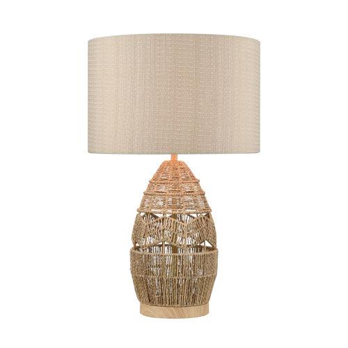 Husk Natural One-Light Table Lamp