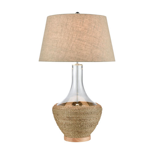Twined Clear and Natural One-Light Table Lamp