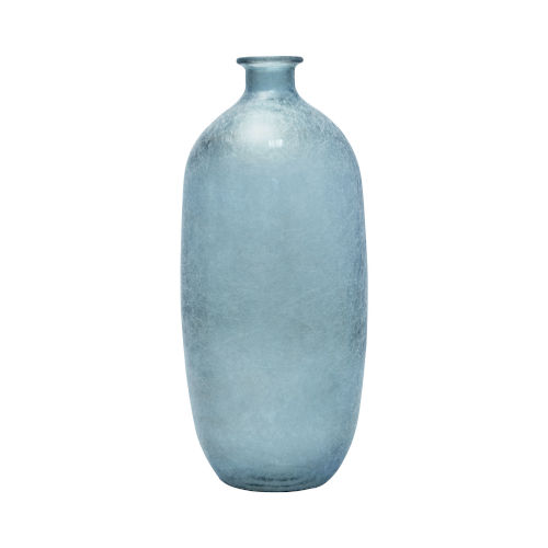Napoles Light Blue Silk 18-Inch Vase
