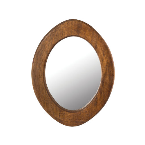 Norwood Dark Mango 13-Inch Oval Wall Mirror