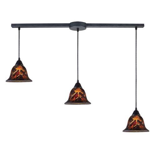 Firestorm Dark Rust Three-Light Mini Pendant
