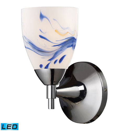 Elk Lighting Celina One Light LED Wall Sconce In Polished Chrome And Mountain Glass