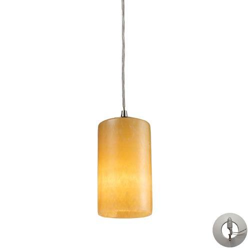 Elk Lighting Coletta One Light Genuine Stone Pendant In Satin Nickel Includes w/ An Adapter Kit