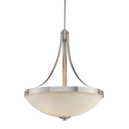 Exeter Three-Light Brushed Nickel Pendant