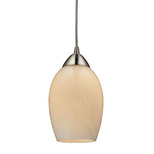 Elk Lighting Favela Satin Nickel One Light Mini Pendant