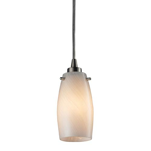 Elk Lighting Favelita Satin Nickel 3-Inch LED One Light Mini Pendant