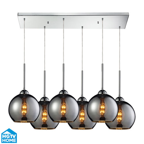 Elk Lighting Cassandra Polished Chrome 30-Inch Six Light Pendant