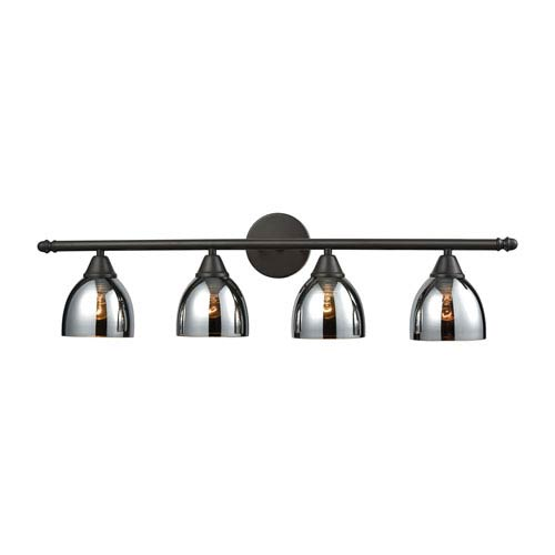Reflections Oil Rubbed Bronze Four-Light Vanity
