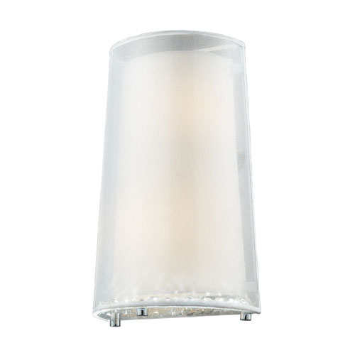 Elk Lighting Crystals Two-Light Wall Sconce in Polished Chrome