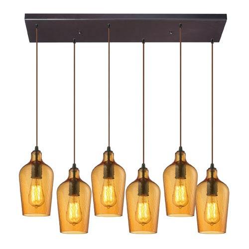 Hammered glass outdoor lighting bellacor elk lighting hammered amber glass oil rubbed bronze six light chandelier aloadofball Images