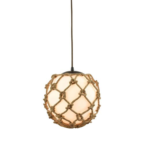 Coastal Inlet Oil Rubbed Bronze 11-Inch One-Light Pendant