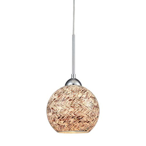 Elk Lighting Crosshatch Polished Chrome One-Light Mini Pendant
