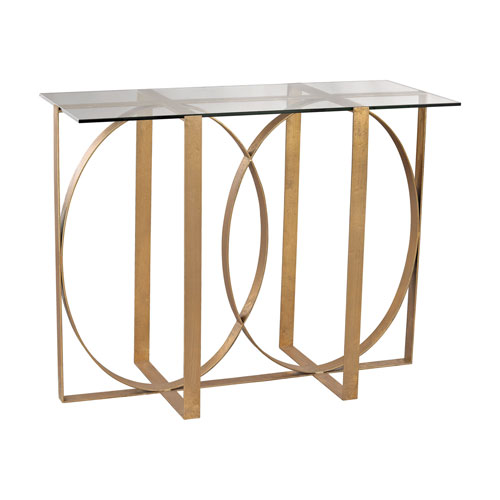 Genial Dimond Home Box Rings Gold Leaf Console Table