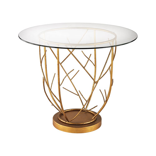 Dimond Home Thicket Gold Leaf 30 X 36 Inch Entry Table