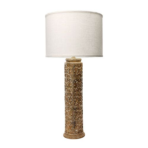 Fleur de lis table lamp bellacor dimond home fluer de lis aged stone one light 17 inch table lamp aloadofball Choice Image