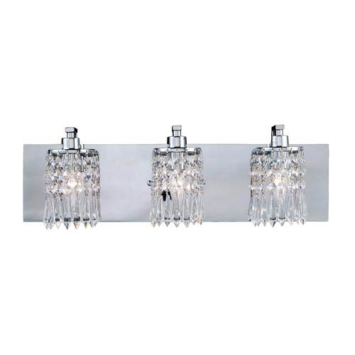 Optix Polished Chrome Three-Light Bath Light
