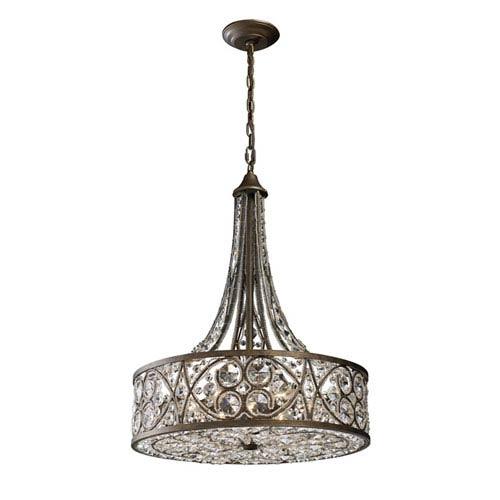 Amherst Antique Bronze Six-Light Pendant
