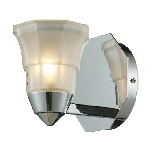 Elk Lighting Deco One Light Bath Fixture In Polished Chrome