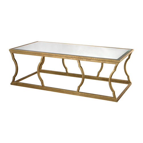 Charmant Dimond Home Metal Cloud Antique Gold Leaf Coffee Table