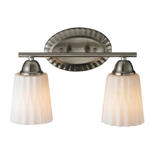 Elk Lighting Waverly Two Light Bath Fixture In Brushed Nickel