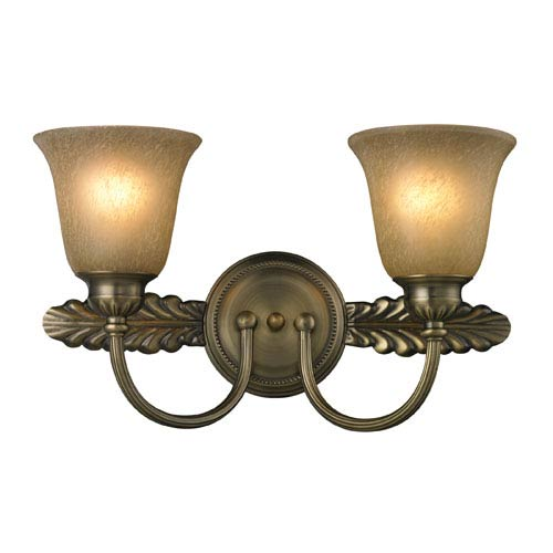 Elk Lighting Ventura Two Light Bath Fixture In Antique Brass