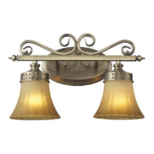 Elk Lighting Claremont Two Light Bath Fixture In Colonial Bronze