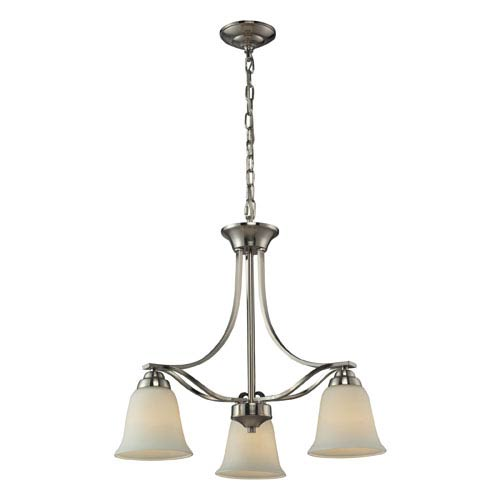 Elk Lighting Malaga Brushed Nickel Three Light Chandelier