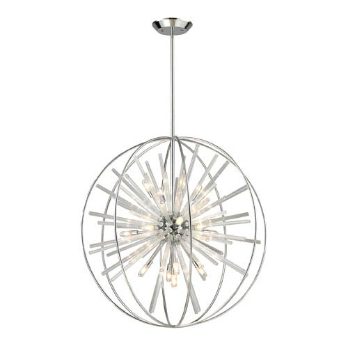 Twilight Polished Chrome Energy Saving 15 Light Pendant