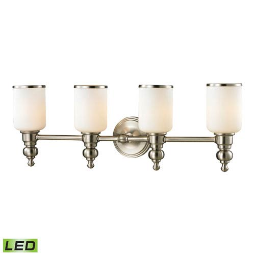 Elk Lighting Bristol Brushed Nickel LED Four Light Bath Fixture