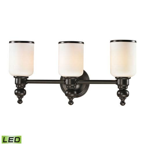 Elk Lighting Bristol Oil Rubbed Bronze LED Three Light Bath Fixture