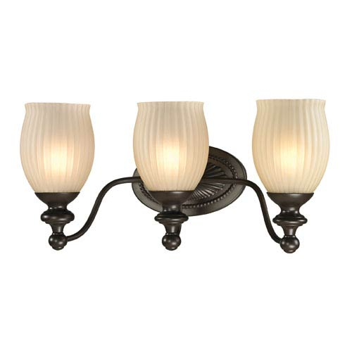 Elk Lighting Park Ridge Oil Rubbed Bronze Three Light Bath Fixture
