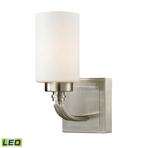 Elk Lighting Dawson Brushed Nickel LED One Light Bath Fixture