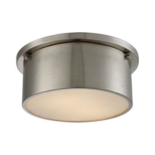 Simpson Brushed Nickel Two-Light Flush Mount