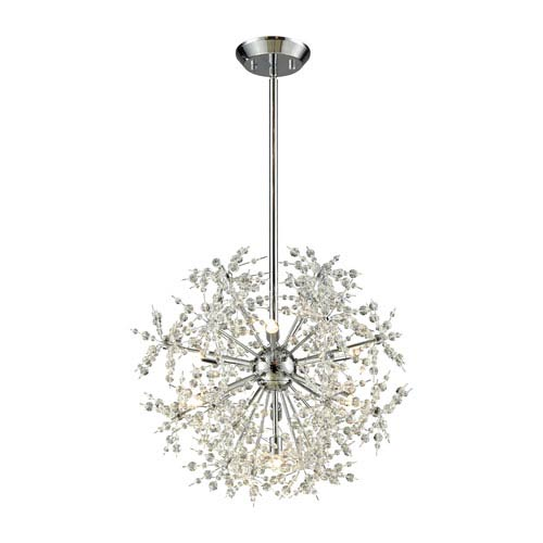 Snowburst Polished Chrome 20-Inch Seven-Light Chandelier