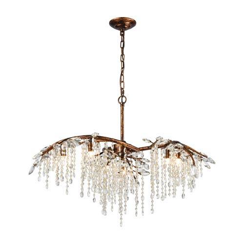 elk lighting elia spanish bronze 27 inch six light chandelier 11901 rh bellacor com