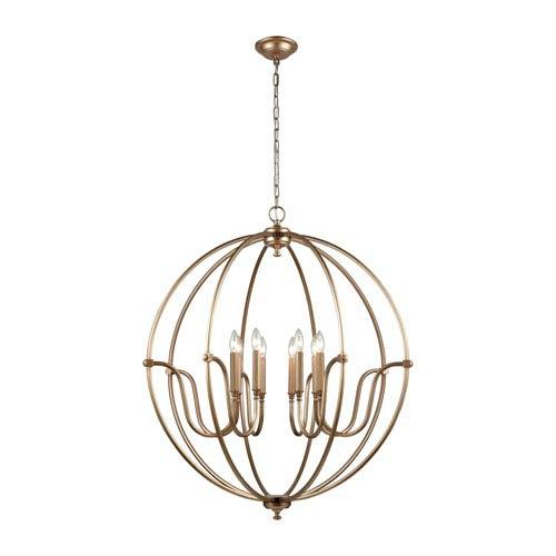 Stanton Matte Gold Eight-Light Pendant