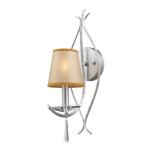 Elk Lighting One Light Clarendon Wall Sconce In Silver