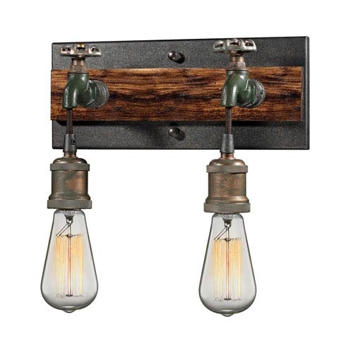 Jonas Multicolor Weathered Two-Light Wall Sconce