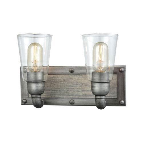 Elk Lighting Platform Weathered Zinc Two-Light Vanity