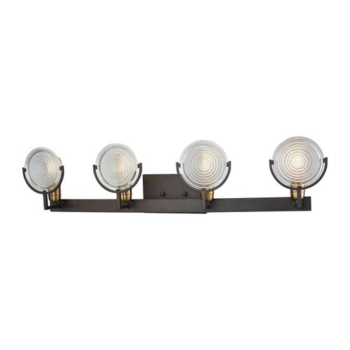 Ocular Oil Rubbed Bronze and Satin Brass Four-Light Vanity