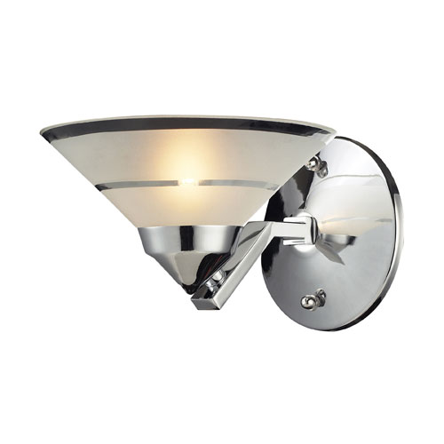 Refraction Polished Chrome Mars One-Light Sconce