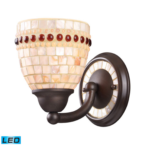 Roxana One Light LED Wall Sconce In Aged Bronze